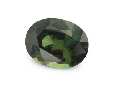 Sapphire Green 9x6.9mm Oval (E)