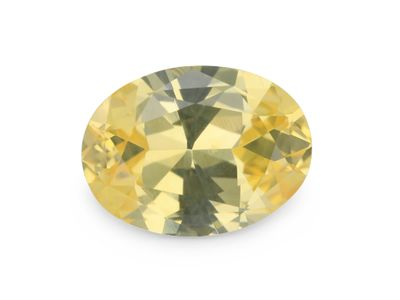 Sapphire Light Yellow 9.4x7mm Oval (E)