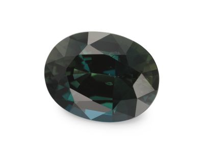 Sapphire Teal 9x6.9mm Oval (E)