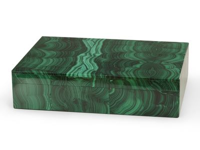 Ornamental Malachite Gembox 180x130mm (N)