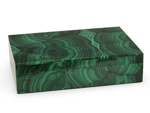 Ornamental Malachite Gembox 180x130mm (N)