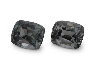 Spinel Grey 7.5x6mm Cushion PAIR (N)