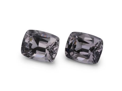 Spinel Grey 6.5x5.2mm Cushion PAIR (N)