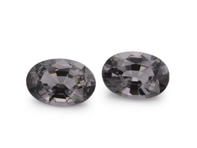 Spinel Dk Grey 7.5x5mm Oval PAIR (N)