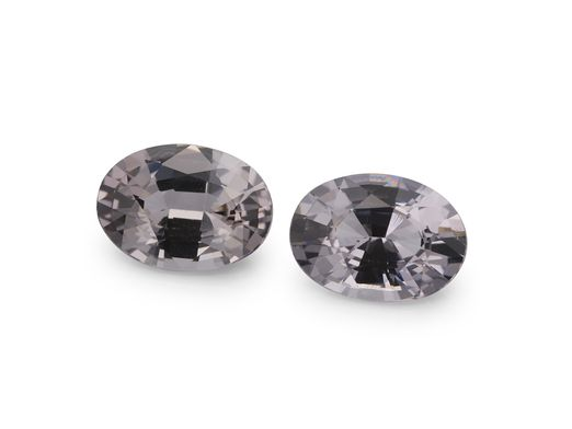 Spinel Grey 6.5x4.8mm Oval PAIR (N)