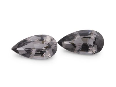 Spinel Grey 8.5x4.7mm Pear PAIR (N)