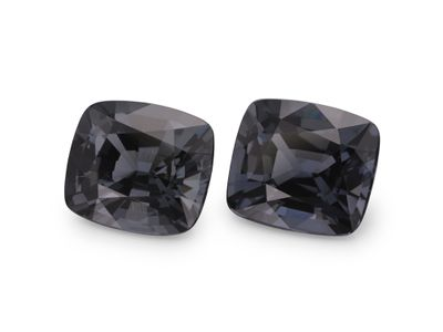 Spinel Grey 7x6.3mm Cushion PAIR (N)