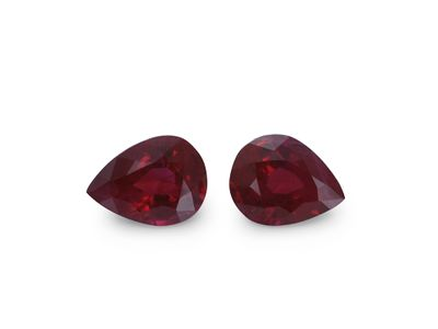 Ruby 5x4mm Pear PAIR (E) Burma