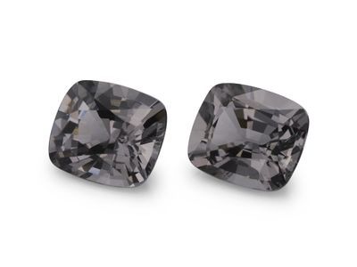 Spinel Grey 7.9x6mm Cushion PAIR (N)