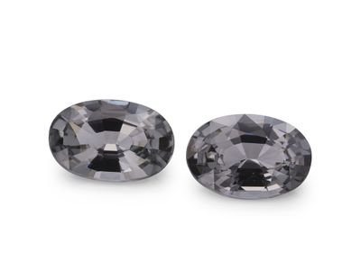 Spinel Lt Grey 7.5x5mm Oval PAIR (N)