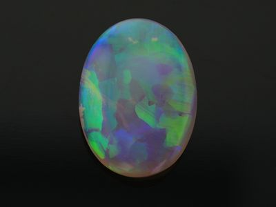 Crystal Opal 18x13mm Oval. Green Blue (N)