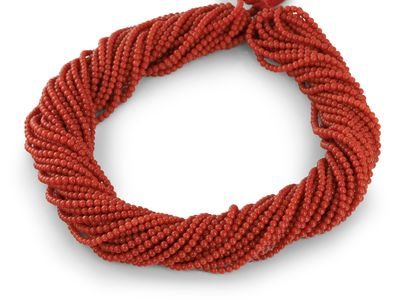 Beads Red 3-3.5mm Round (N)