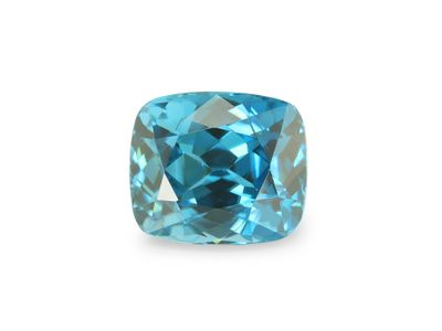 Zircon Blue 7.7x6.6mm Cushion (E)