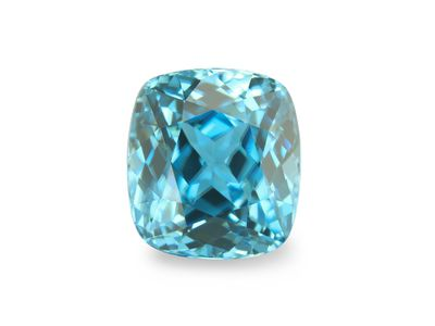 Zircon Blue 8.4x7.7mm Cushion (E)