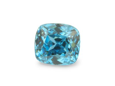 Zircon Blue 7.6x7mm Cushion (E)