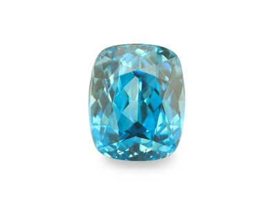Zircon Blue 8.1x6.7mm Cushion (E)