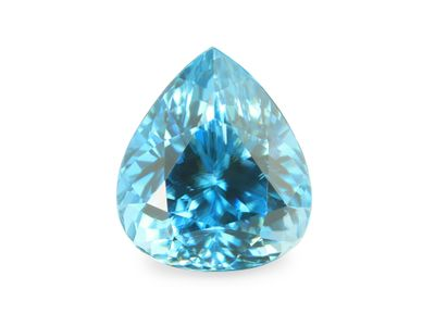 Zircon Blue 9.8x8.5mm Pear (E)