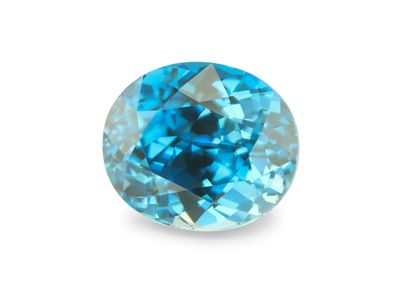 Zircon Blue 9.5x8mm Oval (E)