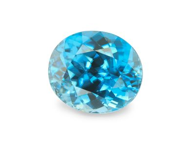 Zircon Blue 9.3x8mm Oval (E)