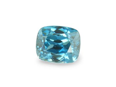 Zircon Blue 7.35x6.1mm Cushion (E)