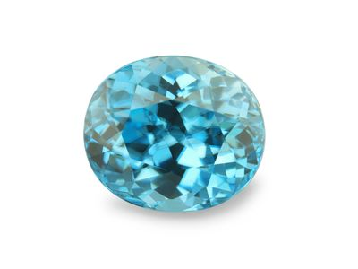 Zircon Blue 9.6x8.2mm Oval (E)