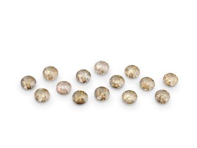 Diamond Champagne Rose Cuts 2.4mm Round (N)