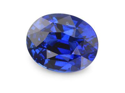 Sapphire Cey Bl 9.15x7.35mm Oval (E) CERT