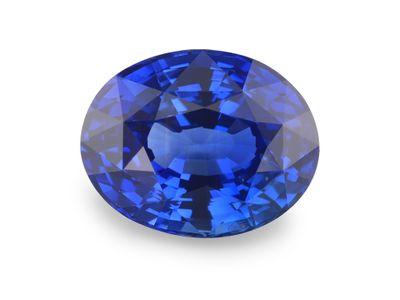 Sapphire Cey Bl 9.3x7.3mm Oval (E) CERT