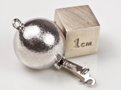 Clasp S/S 14mm Hammer Finish Ball