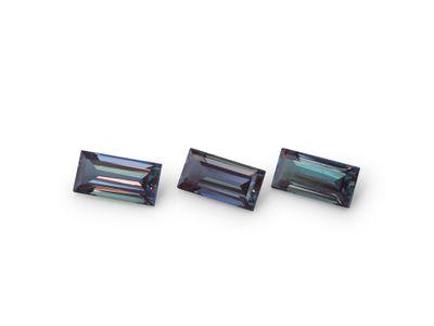 Synthetic Alexandrite 6x3mm Baguette (S)
