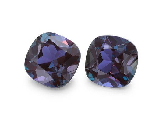 Synthetic Alexandrite 8mm Square Cushion (S)