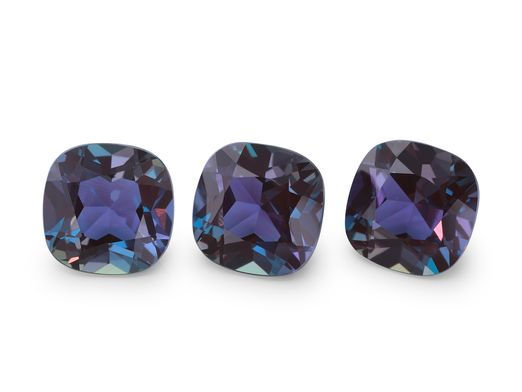 Synthetic Alexandrite 6mm Square Cushion (S)