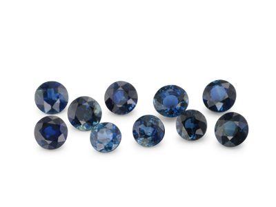 Sapphire Teal/Bl 3mm+/- Round Parcel (E)