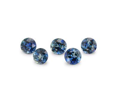 Sapphire Dk Parti 3.5mm+/- Round Parcel (E)