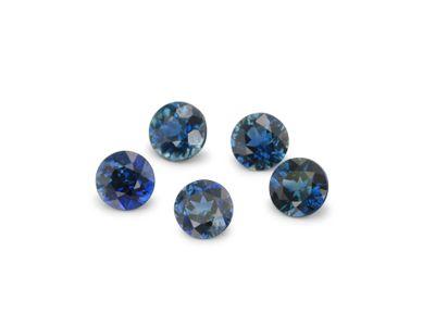 Sapphire Parti 3.5mm+/- Round Parcel (E)