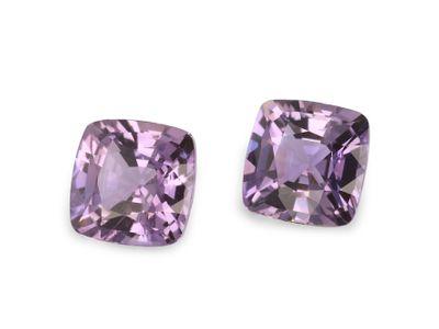 Sapphire Pink/Purple 4.5mm Sq Cushion PAIR (N)