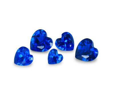 Synthetic Bright Blue Spinel 18mm Heart (S)