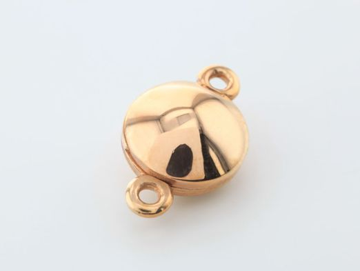 Clasp S/S R/G Plated 10.5mm Polished Slide Magnetic Round