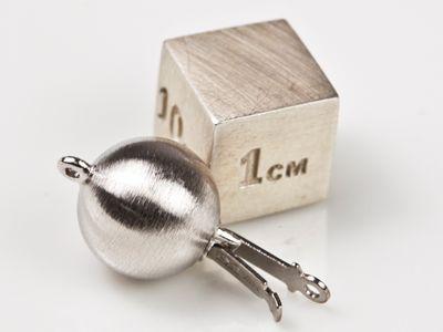 Clasp Palladium 10mm Matt Round Ball