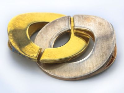 Clasp S/S Gold Plated 20mm Interlocking