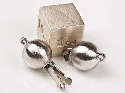 Clasp Palladium 8mm Matte Round Ball