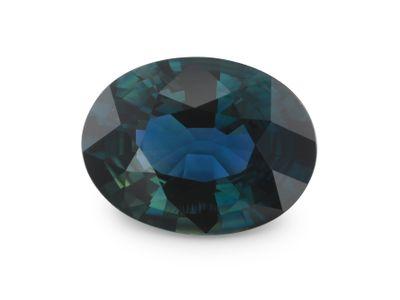 Sapphire Bl Dk Steel 8x6mm Oval (E)