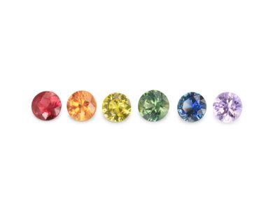 Sapphire Rainbow Set 2.50mm Round (T) (E)