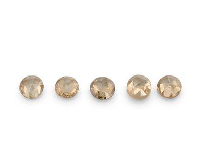 Diamond Champagne 1.70mm Round Rose Cuts (N)