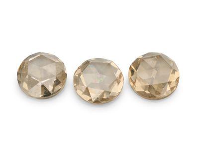 Diamond Champagne 3.5mm Round Rose Cuts (N)