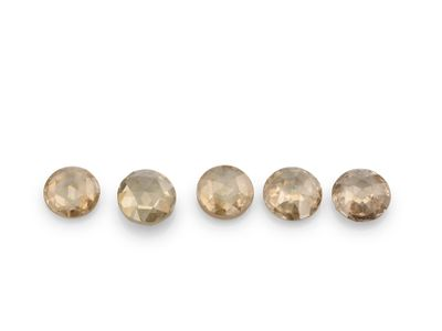Diamond Champagne 1.8mm Round Rose Cuts (N)
