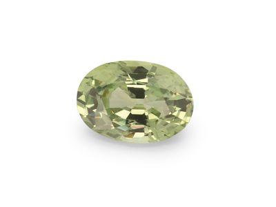 Montana Sapphire Lt Green 6.4x4.5mm Oval (E)