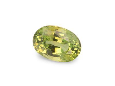 Montana Sapphire Yell/Gr 6.5x4.5mm Oval (E)