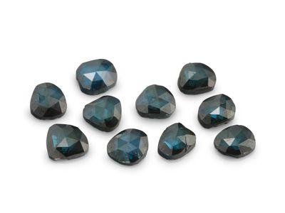 Diamond Teal Rose Cuts 2-2.5mm +/- 10pcs set (T)