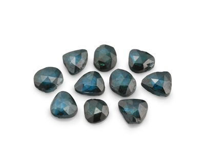 Diamond Teal Rose Cuts  2-2.5mm +/-10pcs  set (T)